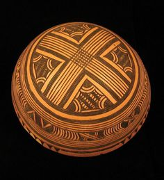 Africa   Bowl from the Tera people of Wuyo, Nigeria   Gourd; geometric motif    Late 20th century