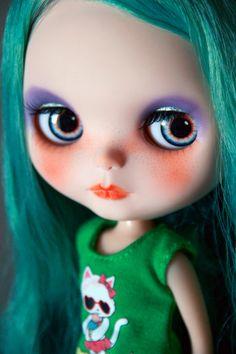 Custom Blythe doll OOAK FBL Prima Dolly Paris with Factory Girl scalp