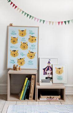d2bc1f4292dc3 Affiche petit tigre dessin pour chambre enfant Hey Tiger A4 poster   cadeaunoël  cadeauoriginal  cadeauenfant  noël  anniversaire  cadeau   cadeaudéco   ...