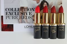 L'Oreal Pure Reds Lipsticks ~ Makeup and Beauty Blog - A Little Obsessed