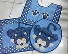 Jogo de Banheiro Crochet Flower Patterns, Crochet Flowers, Fabric Patterns, Cat Quilt, Pet Shop, I Love Cats, Quilting Projects, Stencils, Diy And Crafts