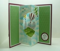 Up Up and Away Tunnel Card