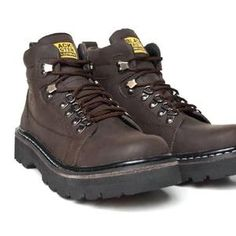 Sepatu Boots Kulit ( Black Master Hard Rock coklat tua )
