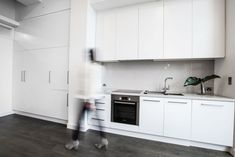 Complete re-styling was undertaken to this terrace home in Fitzroy, Victoria. Melbourne Cbd, Apartments, Ferrari, Kitchen Cabinets, Interiors, Interior Design, Home Decor, Nest Design, Decoration Home