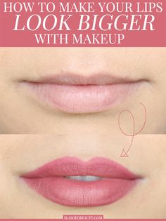 How to Make Your Lips Look Bigger with Makeup the Right Way Overdrawing your lip liner is the best way to make your lips look bigger with makeup! Here's the right way to do it for a full pout that looks natural. Beauty Tips For Teens, Natural Beauty Tips, Natural Makeup, Natural Lips, Big Lips, Your Lips, Happy Skin, Gorgeous Makeup, Good Skin