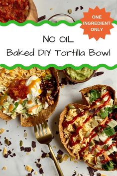 Ditch your store bought tortillas because this tortilla bowl is crispy, delicious, made with one ingredient, and BAKED not fried! | donutworrybehealthy.com #bakedtortilla #tortillabowl Quick Easy Healthy Meals, Healthy Dinner Recipes, Tortilla Bowls, Easy Rice Recipes, Healthy Tacos, Original Recipe, How To Cook Pasta, Baking, Tortillas