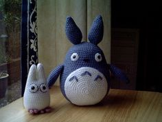 Totoro amigurumi -- what's not to love?  Patterns available here:    http://heavens-hellcat.livejournal.com/420.html