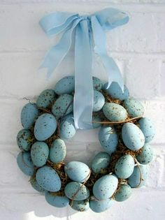 Dirty Easter Egg Wreath Made At Home