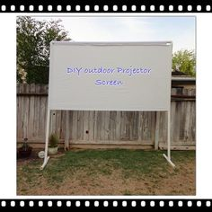 Clunky Crafts: Outdoor Projector Screen Tutorial
