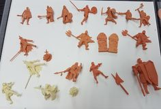 Stages of Production - 3D Print Approval Samples (Orange) and Pre-Tooling Samples (White)