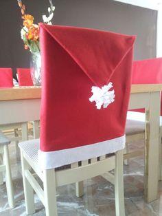 Copertina natalizia per sedia: panno lenci e colla a caldo!