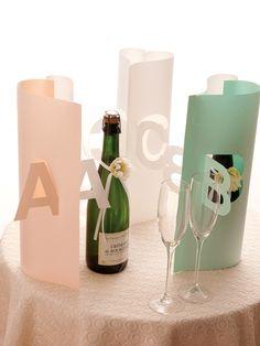 テーブルネーム   手作り結婚式のススメ 幸せのたね。