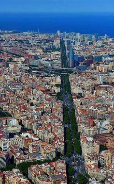 Barcelona, Spain - photo by ? Torre Agbar is in the upper right quarter of the photo. Barcelona City, Barcelona Catalonia, Barcelona Travel, Travel Around The World, Around The Worlds, Places To Travel, Places To Visit, Reisen In Europa, Spain And Portugal