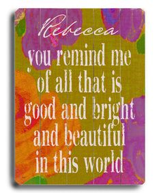 Take a look at this 'You Remind Me' Personalized Sign by Lisa Weedn on #zulily today!