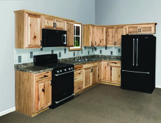 Beautiful Hickory cabinets for a natural looking kitchen. http://www ...