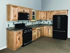 Menard's Value Choice 19' L Thunderbay Hickory Kitchen - Cabinets $1586