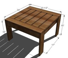Deck furniture Ana White   Build a Ottoman or Accent Table for Simple Modern Outdoor Sectional   Free and Easy DIY Project and Furniture Plans