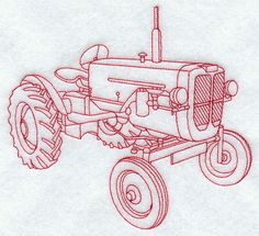 Tractor I (Redwork)