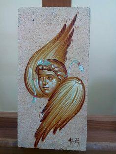 Religious Icons, Religious Art, Religious Images, Byzantine Art, Byzantine Icons, Gabriel, Angel Warrior, Orthodox Icons, Sacred Art