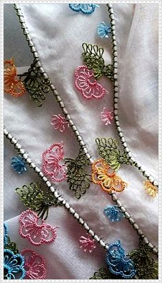 about Oya (Turkish Crochet! Crochet Unique, Crochet Motif, Beautiful Crochet, Irish Crochet, Crochet Flowers, Crochet Patterns, Blackwork Embroidery, Silk Ribbon Embroidery, Embroidery Stitches