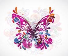 butterfly; art Butterfly Tattoo Designs, Butterfly Design, Butterfly Artwork, Butterfly Images, Butterfly Kisses, Butterfly Cards, Butterfly Wall, Car Bumper Stickers, Laptop Stickers