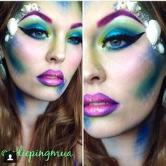 funky makeup idea