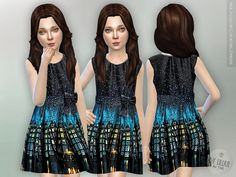 Multicolor Cocktail Dress  Found in TSR Category 'sims 4 Female Child Everyday'