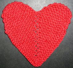 Knitting Pattern Heart Shape : Knooking - knitting with a crochet hook on Pinterest ...