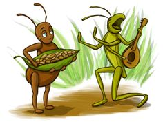 Grasshopper and the Ant by Adelya Tumasyeva at Coroflot.com