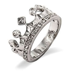 Made with .925 sterling silver, this Cubic Zirconia Crown Jewels Ring features a crown design with petite CZ stones. Includes elegant gift box.