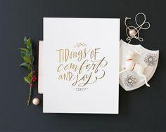 Comfort & Joy Print