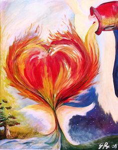 Heart Painting - Baptize Me With Holy Fire by Jennifer Page