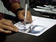 Comic Con: Artist drawing Marvel/Capcom Part 1