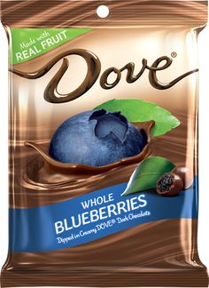 So so so Delicious!! DOVE® Real Blueberries Dipped in Silky Smooth Dove® Dark Chocolate Sharing Size