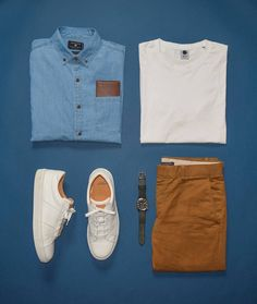 Outfit grid from @StylesofMan, featuring the Royale in Blanco - $159. #beoneofthegreats #greatsbrand #greats