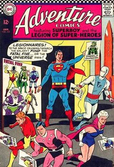 Adventure Comics #352 | Superboy and the Legion of Super-Heroes, The Fatal Five