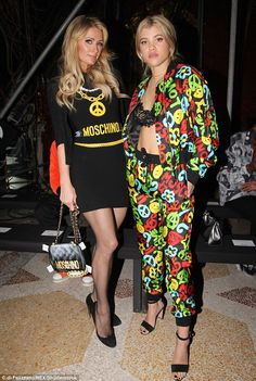 Sofia Richie and Paris Hilton attended the Moschino Autumn Winter 2017 show in Italy on January 14, 2016