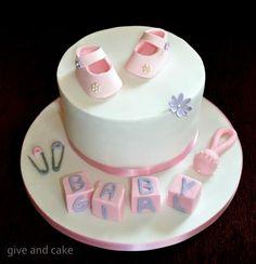 ellegant baby girls cake