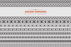 Vector Set - Ancient Borders - Patterns - 1