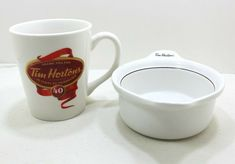 Tim Hortons Coffee Cup 40 Years Anniversary Limited Edition And Handled Soup/Chi #TimHortons Tim Hortons Canada, Tim Hortons Coffee, Coffee Cups, Tea Cups, Tea Brands, 40 Years, Soup, Anniversary, Tableware