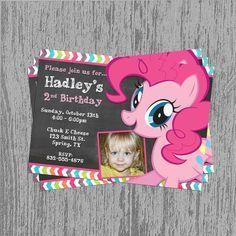 My Little Pony Pinkie Pie Birthday Invitation Digital File; You Print