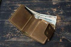 Leather men's wallet Leather wallet made of genuine Luxury Mens Wallets, Wallets For Women Leather, Leather Men, Leather Wallet Pattern, Handmade Leather Wallet, Leather Workshop, Money Clip Wallet, Minimalist Wallet, Slim Wallet