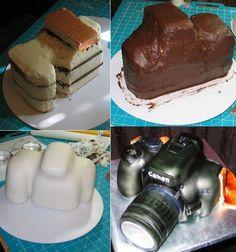Making a Camera Cake   cake_cameramaking