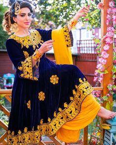 DM me for order ! خریداری بهترین گن های افغانی با سفاریش مورد علاقه تان برای معلومات بشتر مسج کنید Dm to place an order or contact us through 📲WhatsApp :- :- Can be delivered all over the world Pakistani Dress Design, Pakistani Dresses, Indian Dresses, Indian Outfits, Frock Fashion, Fashion Dresses, Afghani Clothes, Balochi Dress, Dress Girl
