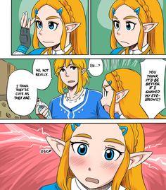 Zelda's eyebrow issue | The Legend of Zelda: Breath of the Wild | Know Your Meme
