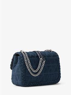 Sloan Large Quilted-Denim Shoulder Bag
