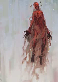 Death, Crimson: Resides in mists and bogs High armor class, only magical weapons can damage it Drains victims of all their fluids, it then becomes more visible and weaker. Hides dead bodies and collects valuables from the dead (Monster Manual 2)