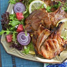 Grilled Lemon and Thyme Pork Chops