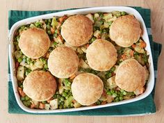 Curry Chicken Pot Pie recipe from Alton Brown via Food Network. I doubled the curry but I would add more next time.
