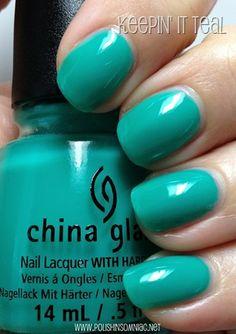 China Glaze Sunsational - Keepin' It Teal - The Jellies ♥